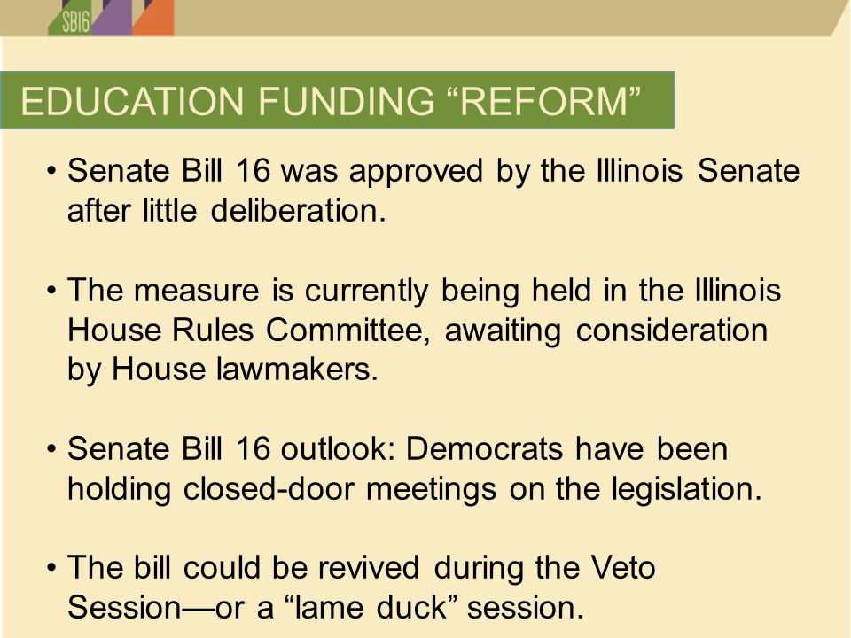 Senate Bill 16 was approved by the Illinois Senate after little deliberation.