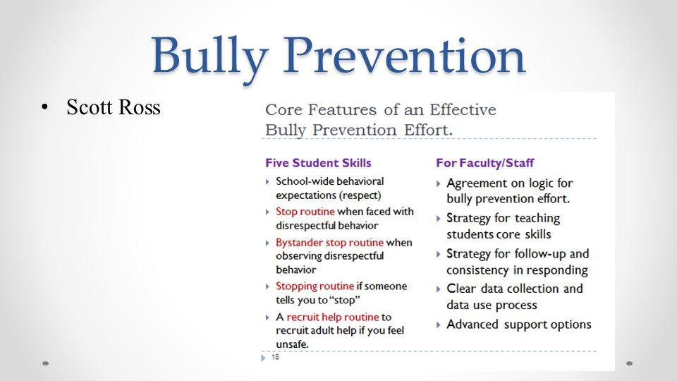 Bully Prevention Scott Ross