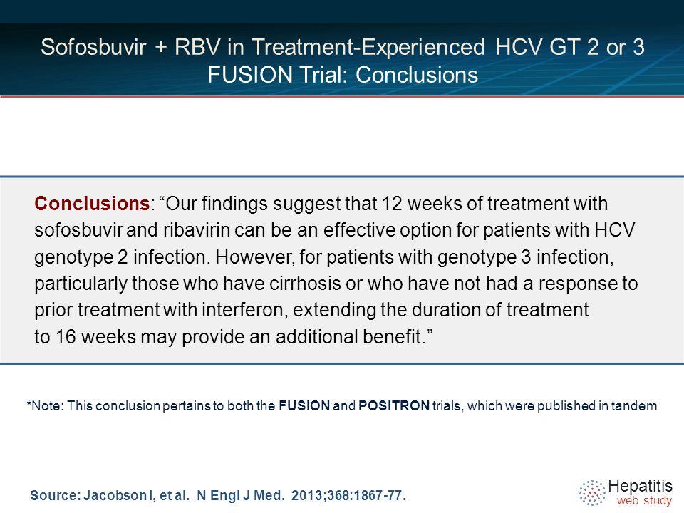 Hepatitis web study Source: Jacobson I, et al. N Engl J Med.