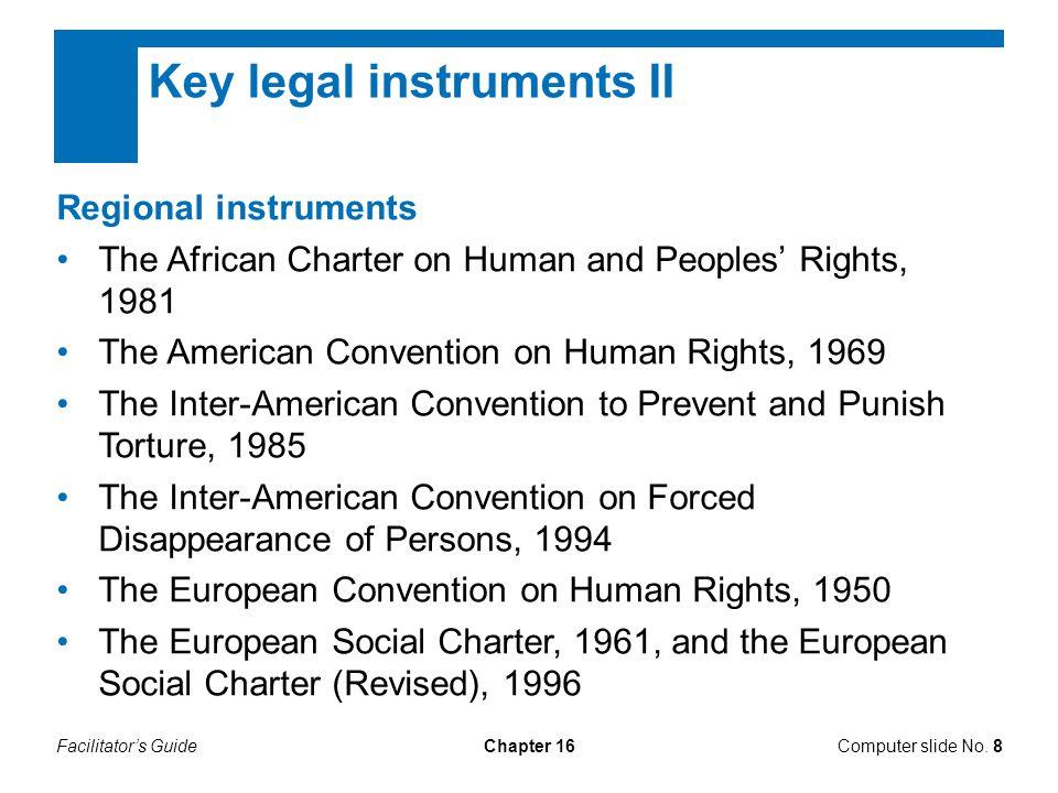 Facilitator's GuideChapter 16 Key legal texts I Computer slide No.