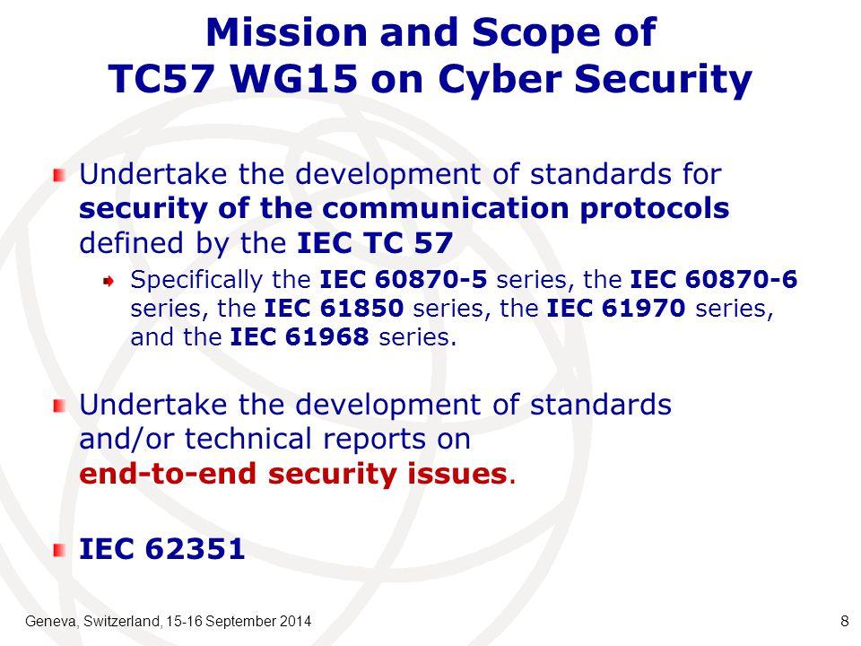 IEC 62351-7 Network and System Management Geneva, Switzerland, 15-16 September 2014 19