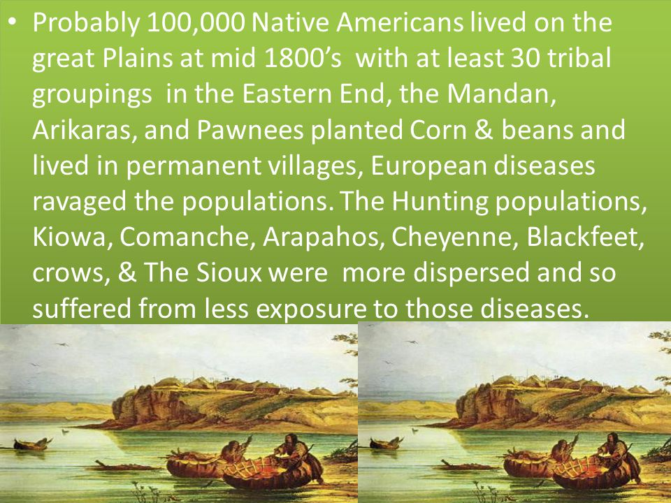 Their lifestyle centered around Hunting, and the plains had an abundance of grazing animals such as the Buffalo & the Antelope.