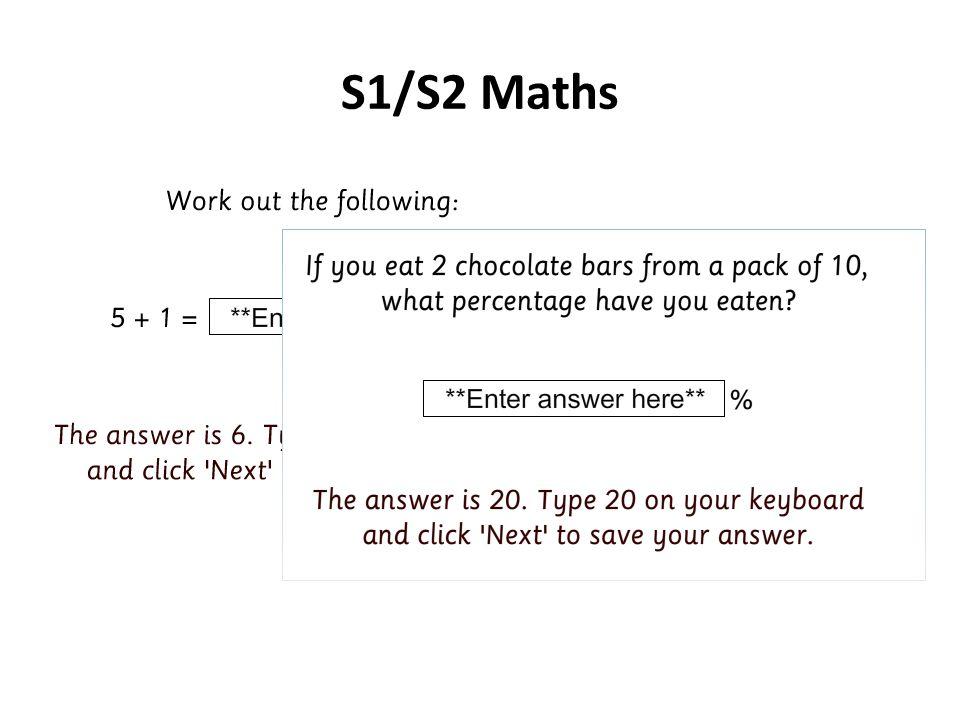 S1/S2 Maths