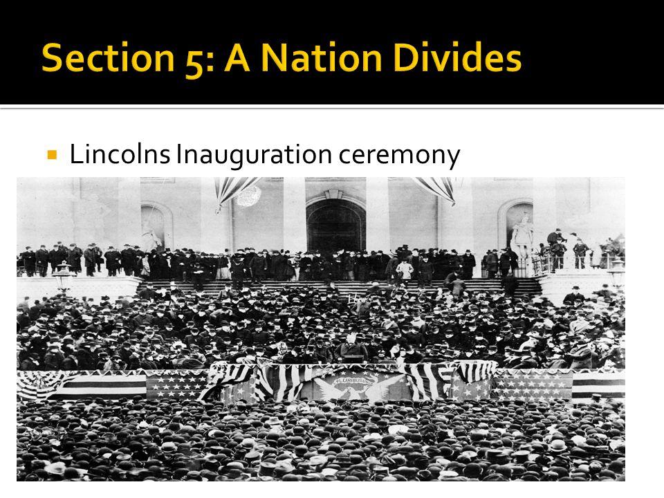  Lincolns Inauguration ceremony