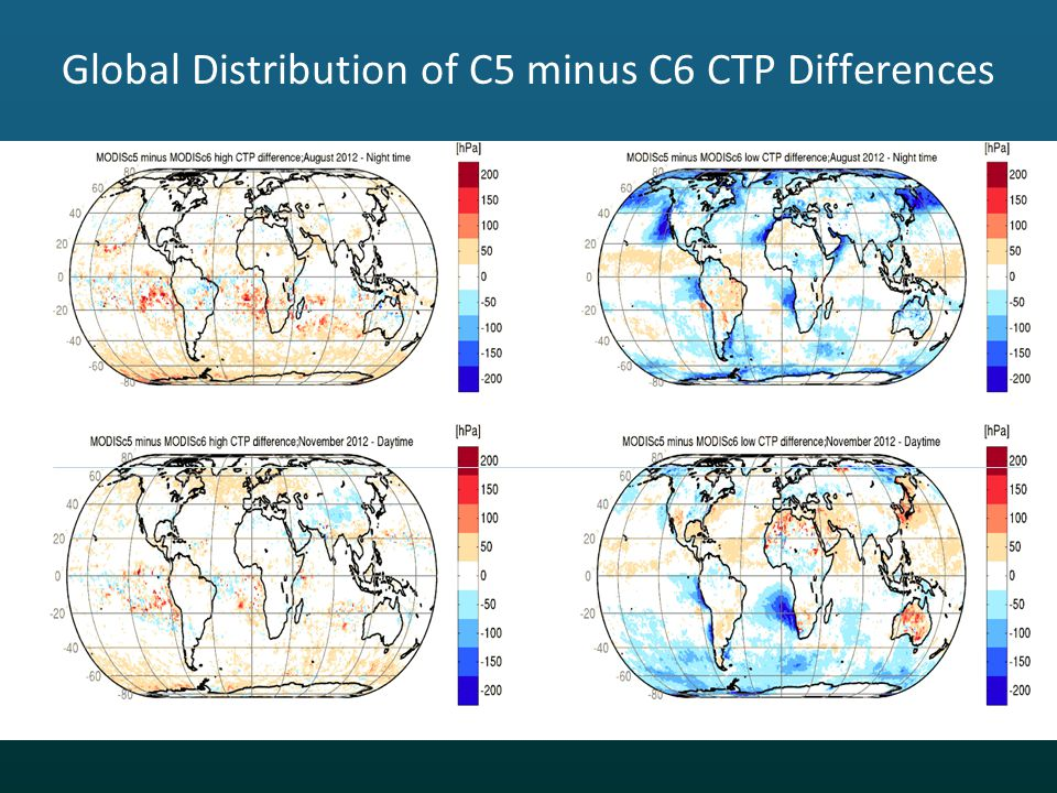Global Distribution of C5 minus C6 CTP Differences