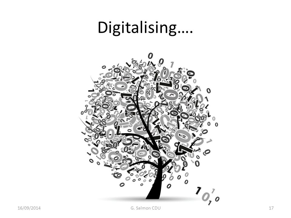 Digitalising…. 16/09/2014G. Salmon CDU17