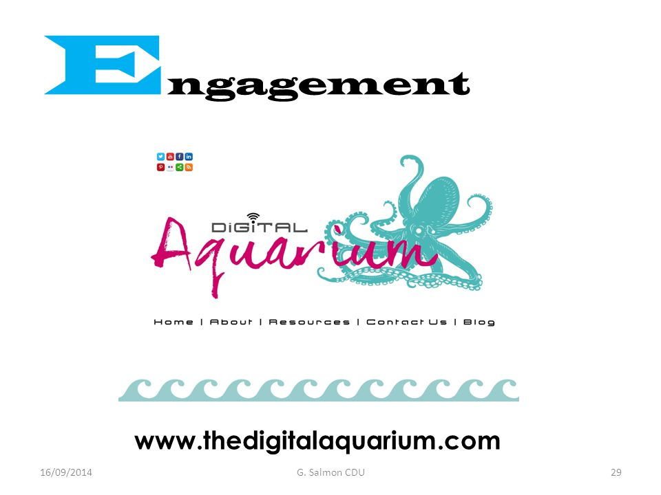 www.thedigitalaquarium.com E ngagement 16/09/2014G. Salmon CDU29