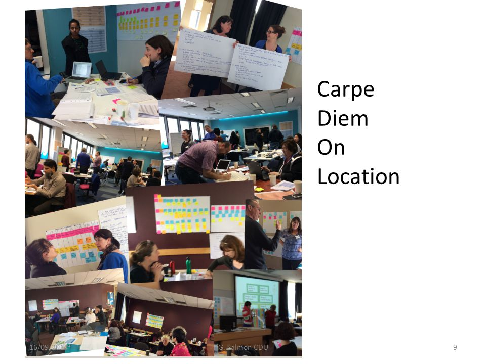 Carpe Diem & E-tivities : Situated Learning 16/09/2014G.