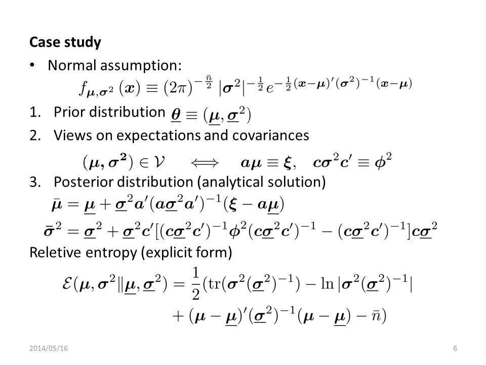 Problem General views are not addressed by analytical solution Numerical approach is computationally expensive: 1.Large number of parameters 2.Constrained specification 2014/05/167