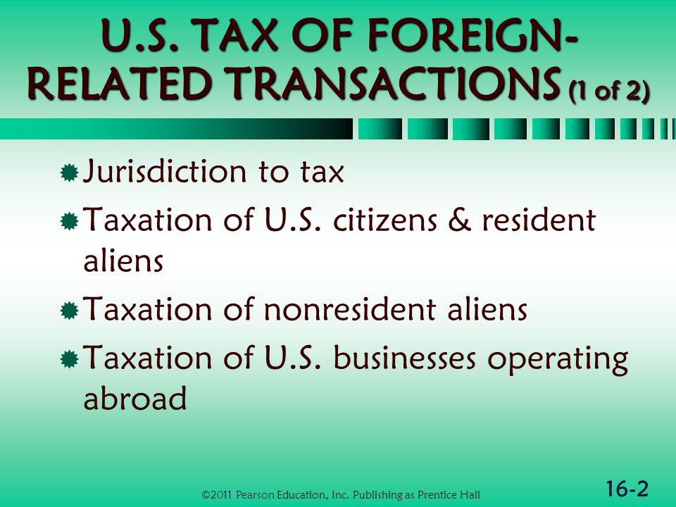 16-23 Taxation of U.S.