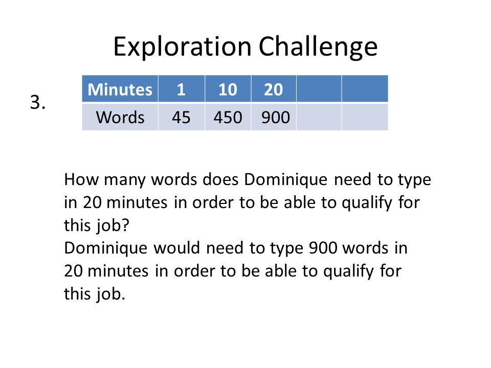 Exploration Challenge 3.