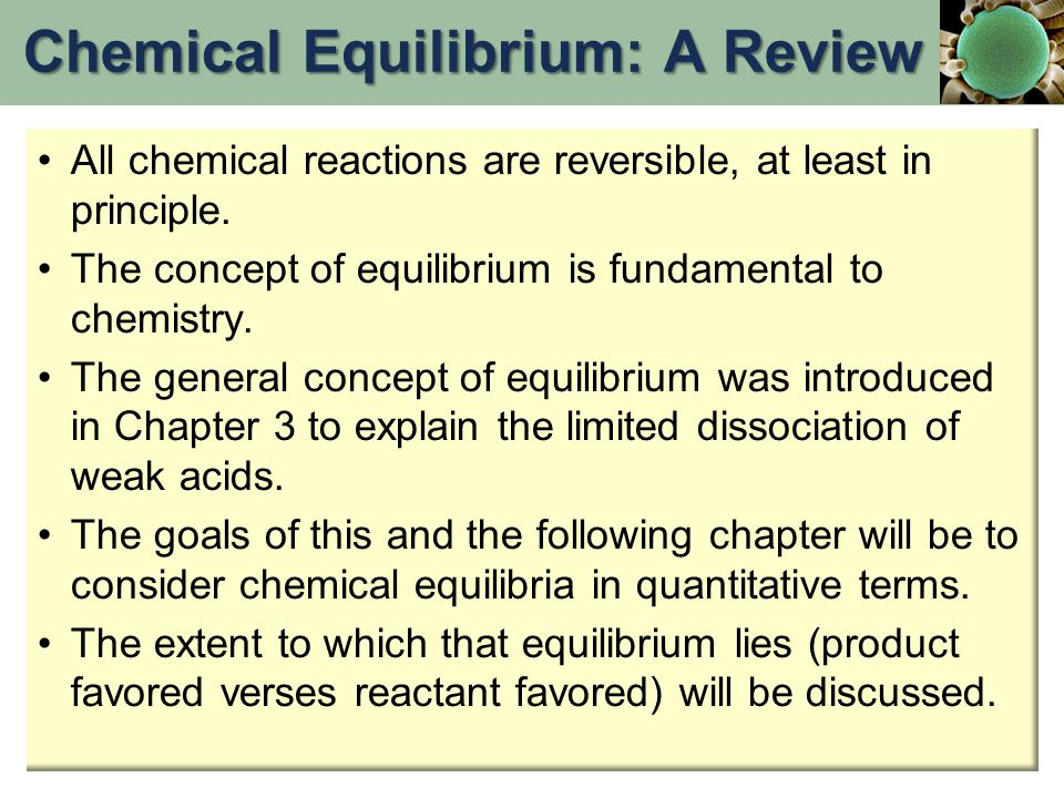 Effect of the Addition or Removal of a Reactant or Product If the concentration of a reactant or product is changed from its equilibrium value at a given temperature, equilibrium will be reestablished eventually.