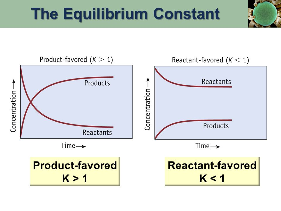 ICE tables: I = Initial concentration C = change in concentration E = concentrations at equilibrium ReactantsProducts I C E Determining the Equilibrium Constant