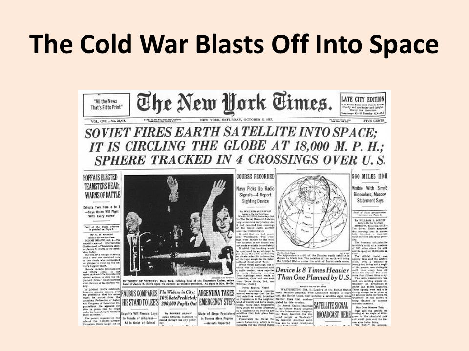 The Cold War Blasts Off Into Space