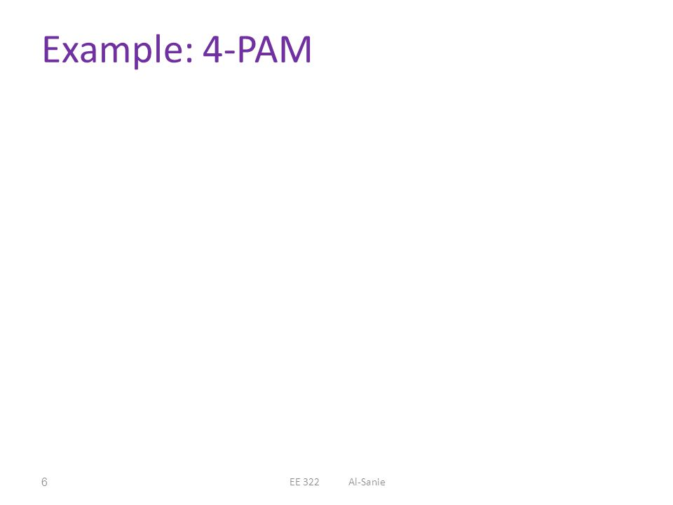 Example: 4-PAM 6EE 322 Al-Sanie