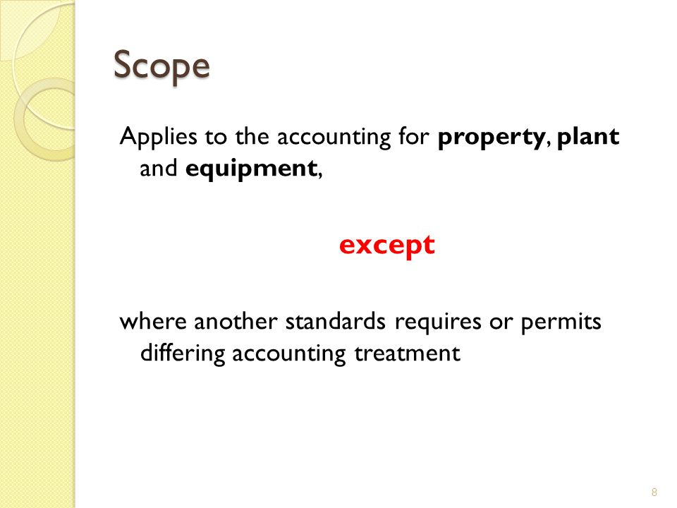 Initial Measurement If payment for an item of property, plant, and equipment is deferred, interest at a market rate must be recognised or imputed 19