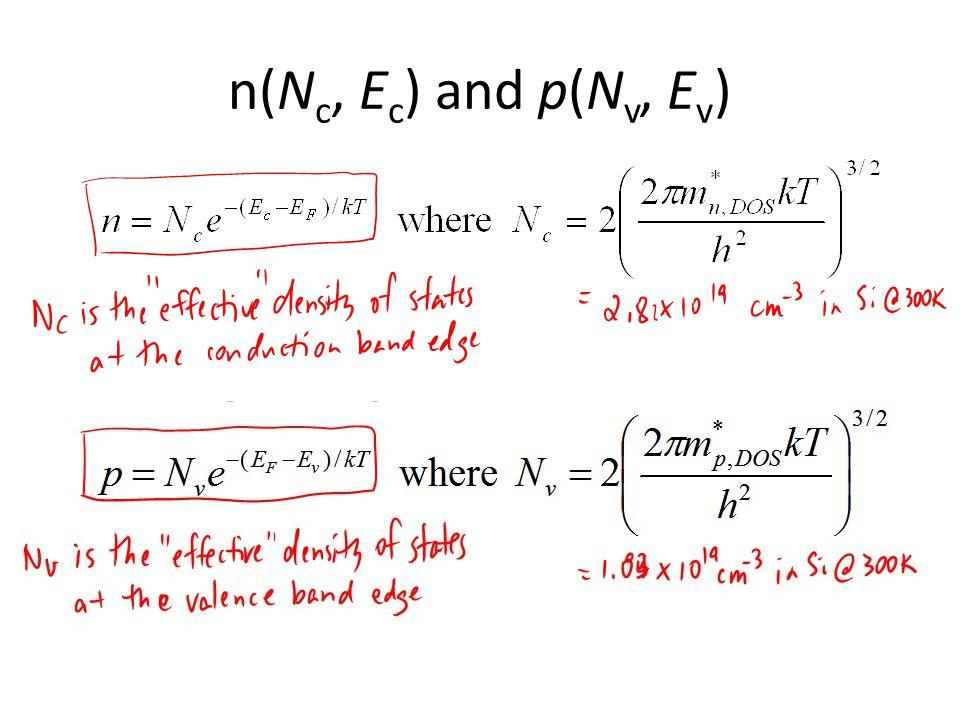 n(N c, E c ) and p(N v, E v )