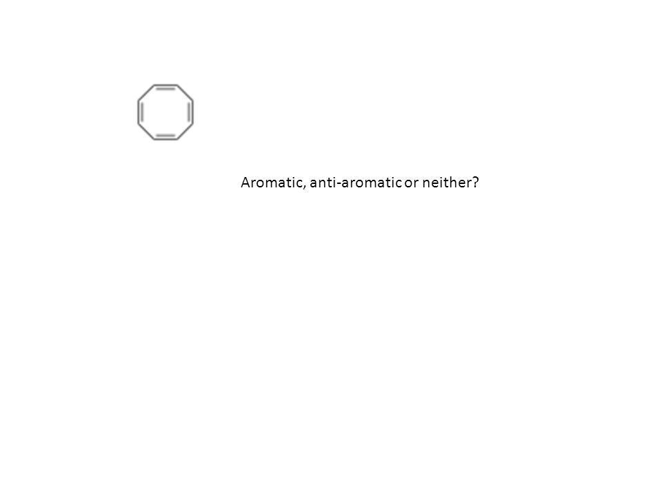 Aromatic, anti-aromatic or neither