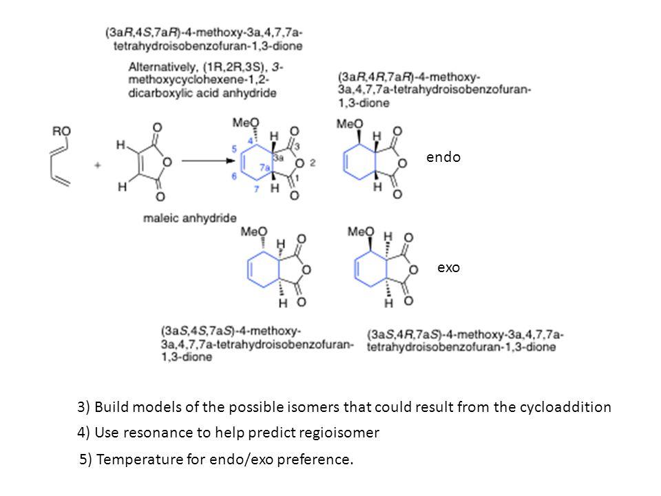 Endo and exo + enantiomer Exo (thermodynamic product) Endo (kinetic product)