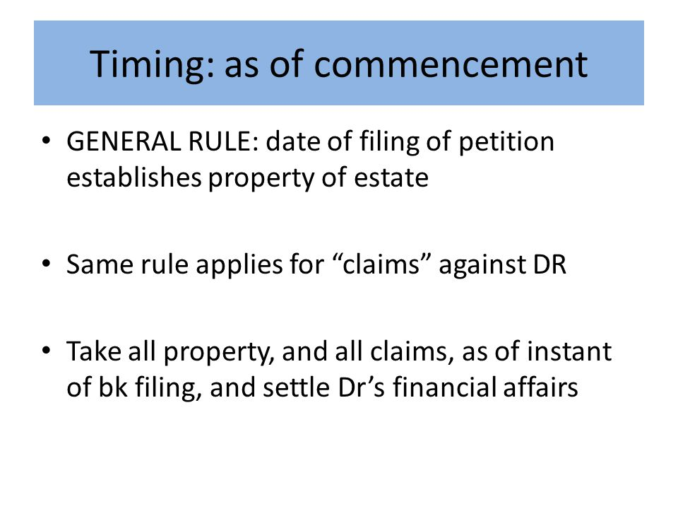 Schmitz pre- bankruptcy post-bankruptcy DR fished* Fed regs enacted Regs considered* QS issued to DR * DR sold QS for > $46K