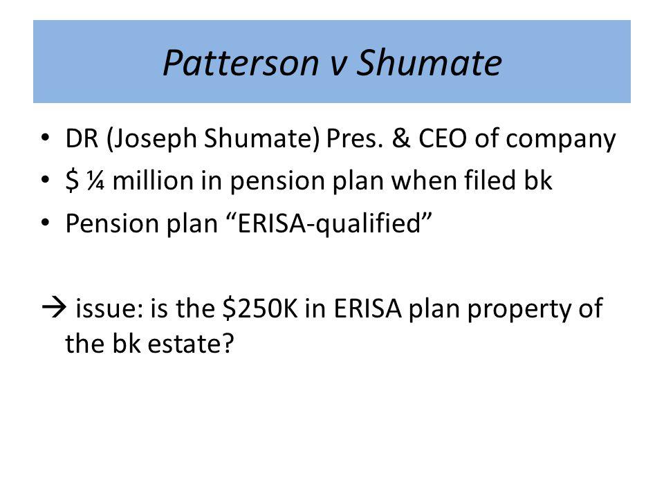 Patterson v Shumate DR (Joseph Shumate) Pres.
