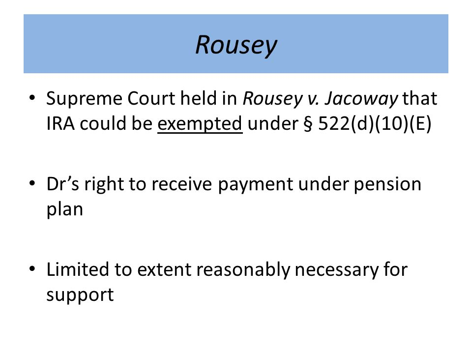 Rousey Supreme Court held in Rousey v.