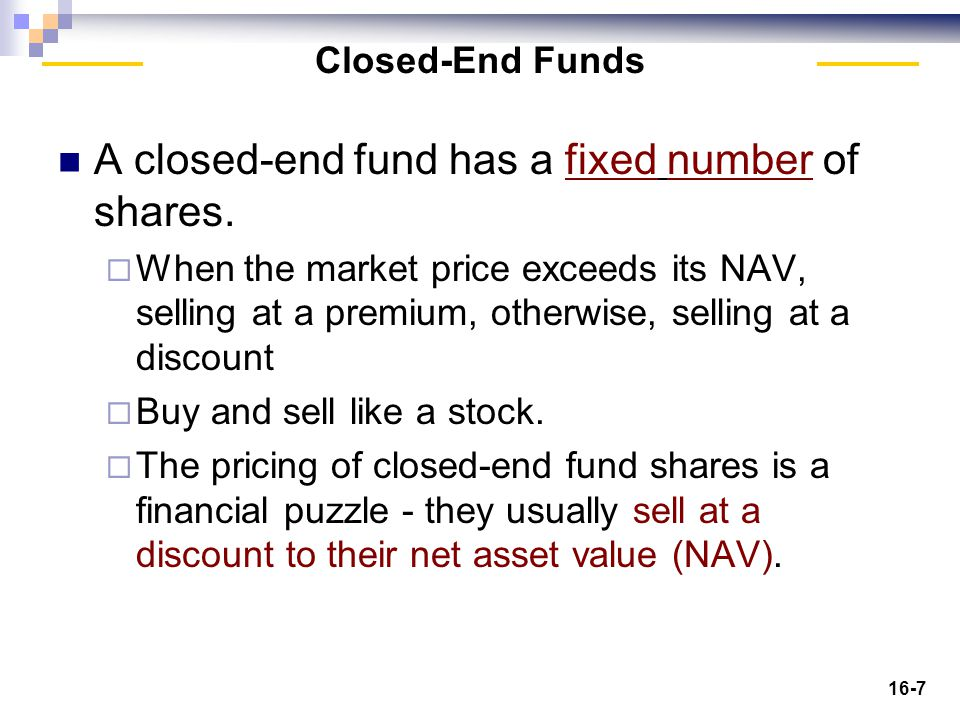 16-28 A balanced fund is a mixture of stocks and fixed income securities.