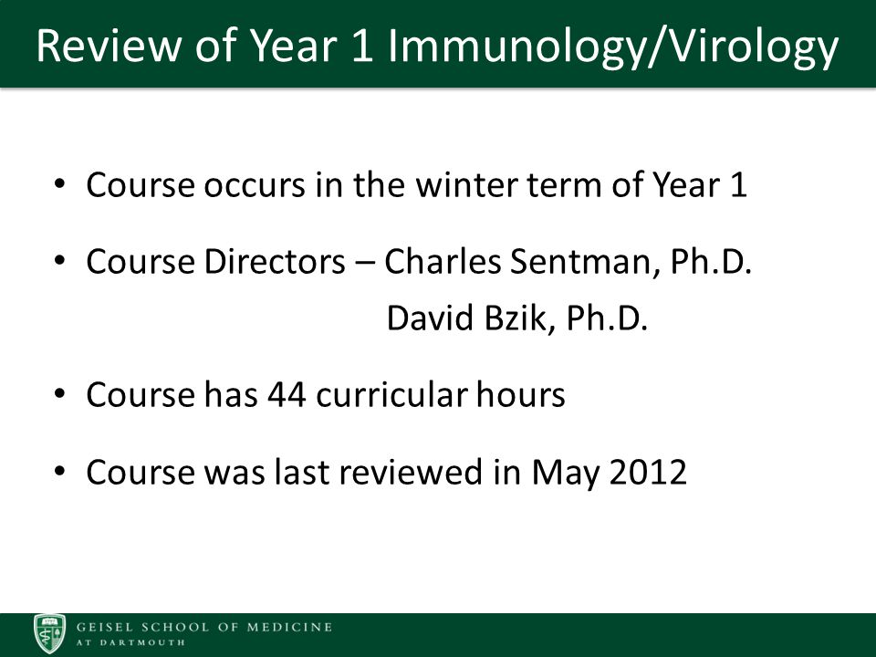 Recommendations from 2012 Review Incorporate more active modes of learning/new methods of pedagogy into the course (i.e.