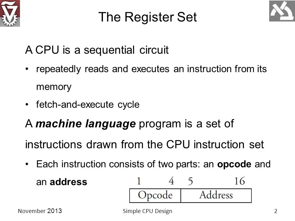 11 instructions require a 4-bit opcode.