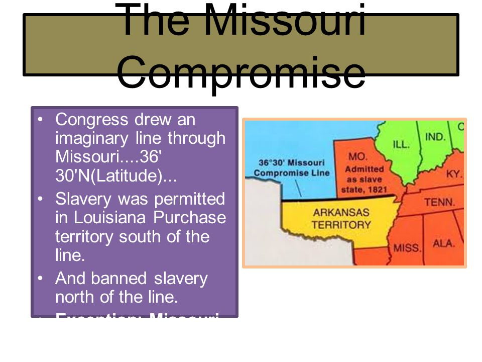 The Compromise of 1850 Five Parts: 1.California would enter Union as a free state.