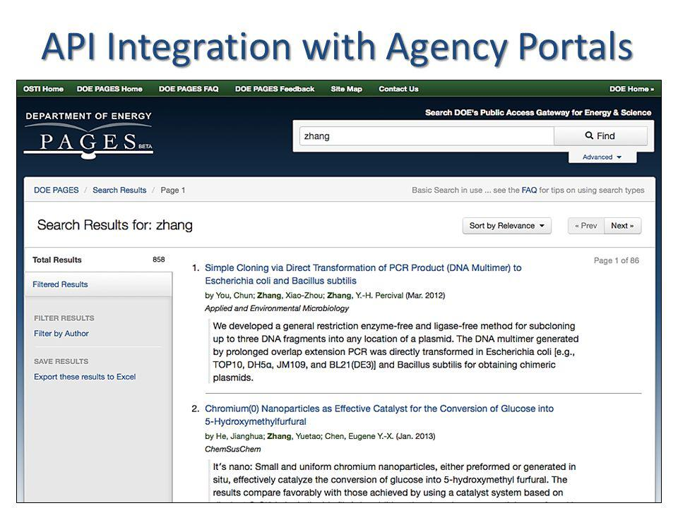 API Integration with Agency Portals