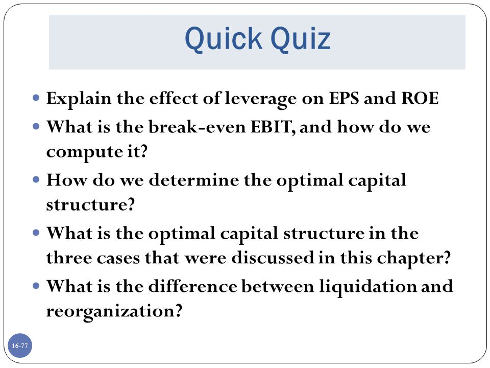 16-78 Comprehensive Problem Assuming perpetual cash flows in Case II - Proposition I, what is the value of the equity for a firm with: EBIT = $50 million Tax rate = 40% Debt = $100 million cost of debt = 9% and unlevered cost of capital = 12%
