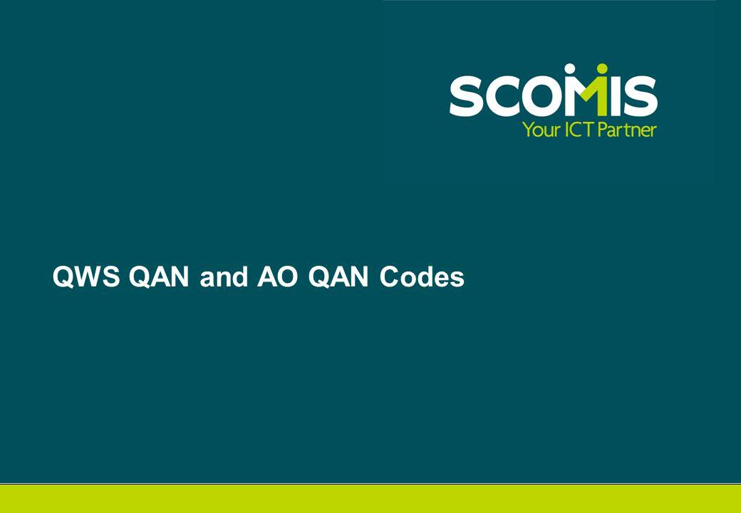 QWS QAN and AO QAN Codes