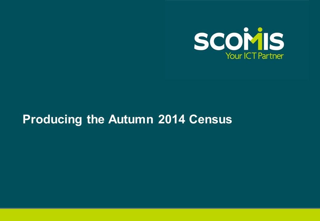 Producing the Autumn 2014 Census