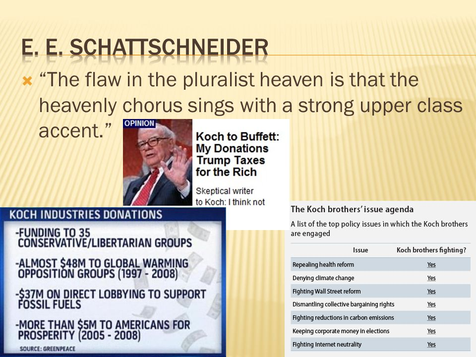 """ """"The flaw in the pluralist heaven is that the heavenly chorus sings with a strong upper class accent."""""""