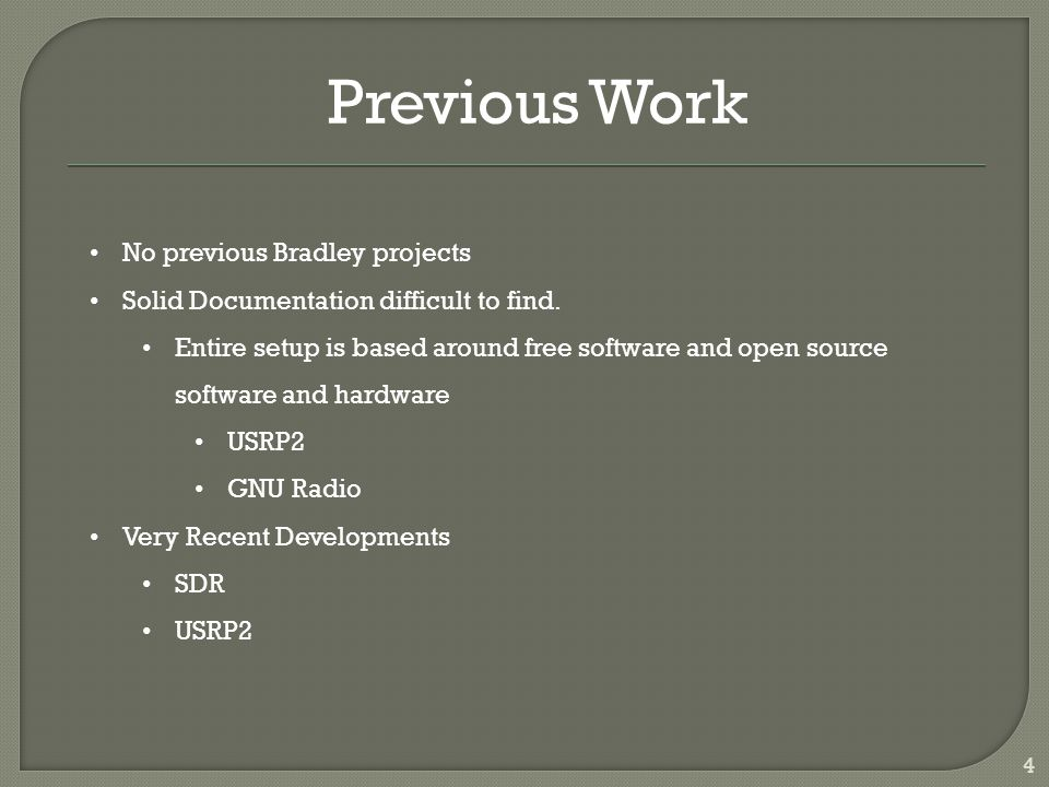 5 Software Defined Radio (SDR) WHAT it is: Radio in which some or all of the physical layer functions are software defined WHY use SDR : - Takes what used to be physically ingrained and provides hardware and software alternatives.