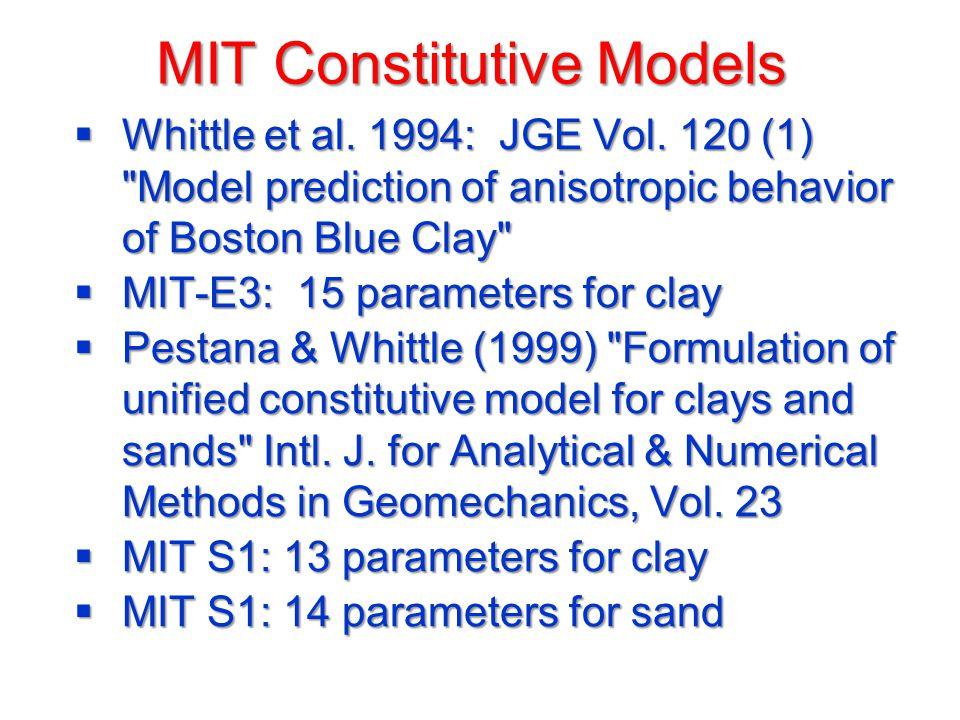 MIT Constitutive Models  Whittle et al.1994: JGE Vol.