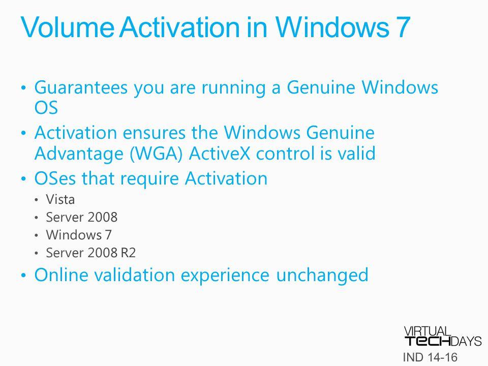 Volume Activation in Windows 7