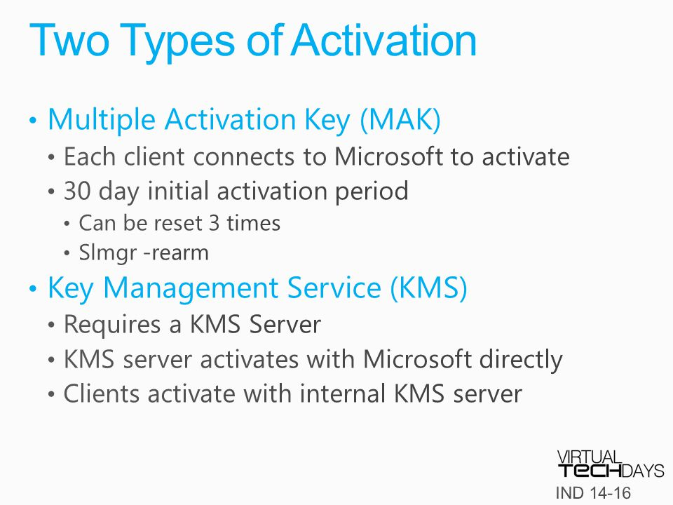 Two Types of Activation