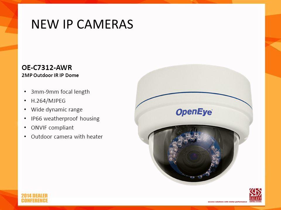 OE-C7312-AWR 2MP Outdoor IR IP Dome 3mm-9mm focal length H.264/MJPEG Wide dynamic range IP66 weatherproof housing ONVIF compliant Outdoor camera with