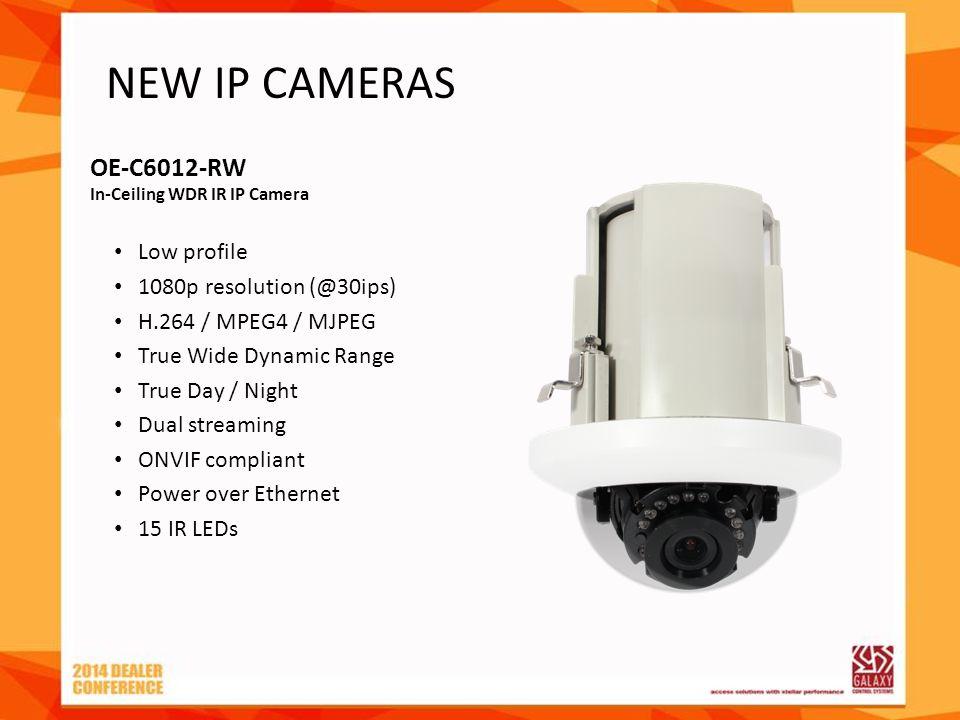 OE-C6012-RW In-Ceiling WDR IR IP Camera Low profile 1080p resolution (@30ips) H.264 / MPEG4 / MJPEG True Wide Dynamic Range True Day / Night Dual stre