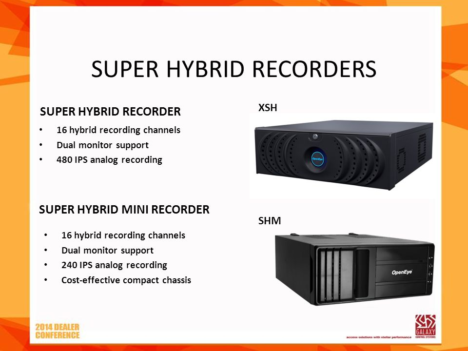 SUPER HYBRID RECORDERS XSH SHM SUPER HYBRID RECORDER 16 hybrid recording channels Dual monitor support 240 IPS analog recording Cost-effective compact
