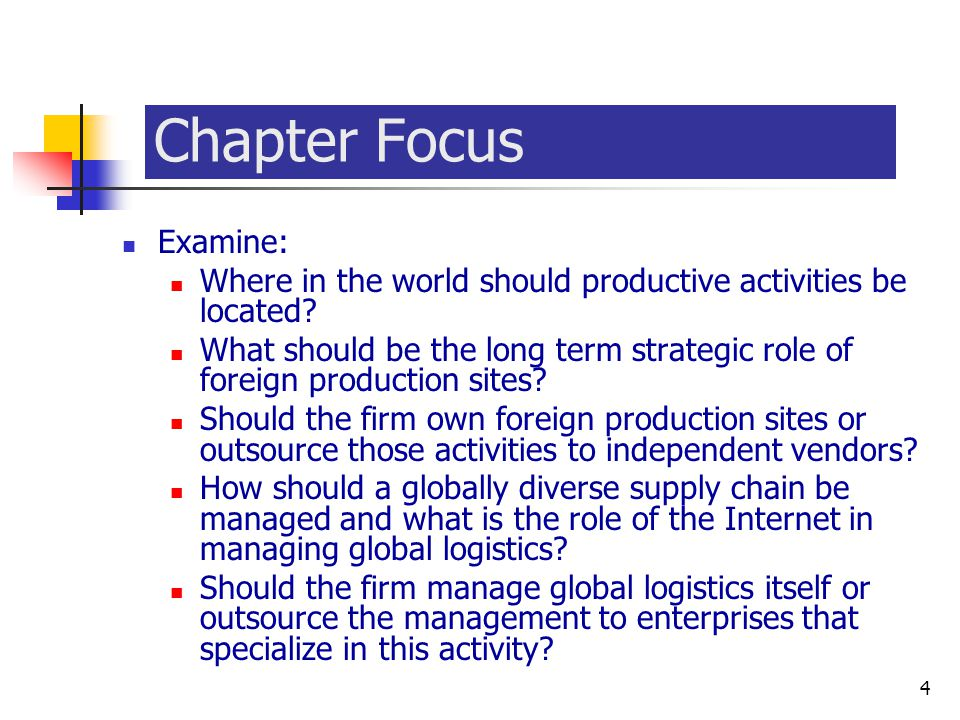 McGraw-Hill/Irwin © 2003 The McGraw-Hill Companies, Inc., All Rights Reserved. 16-4 4 Chapter Focus Examine: Where in the world should productive acti