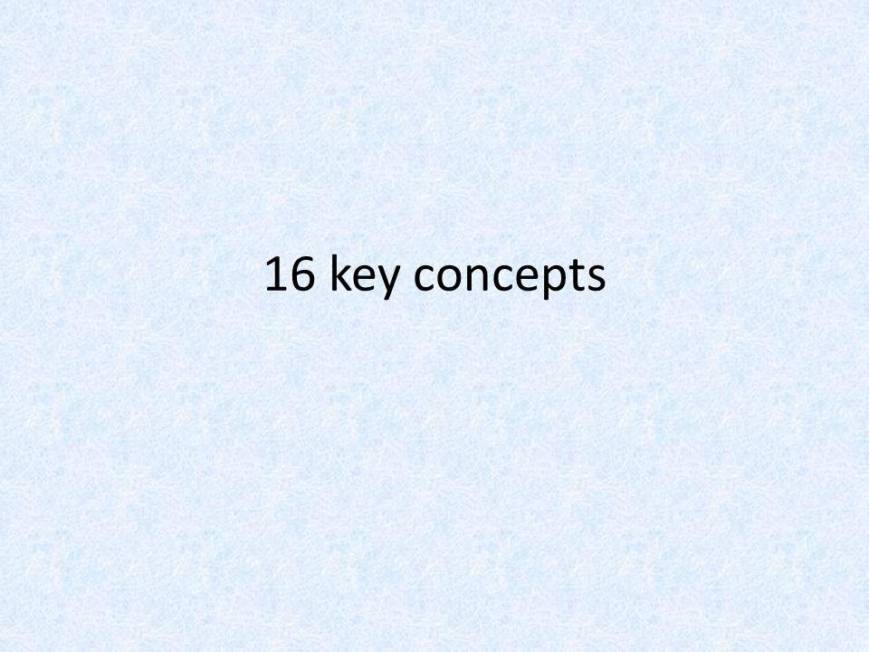 16 key concepts