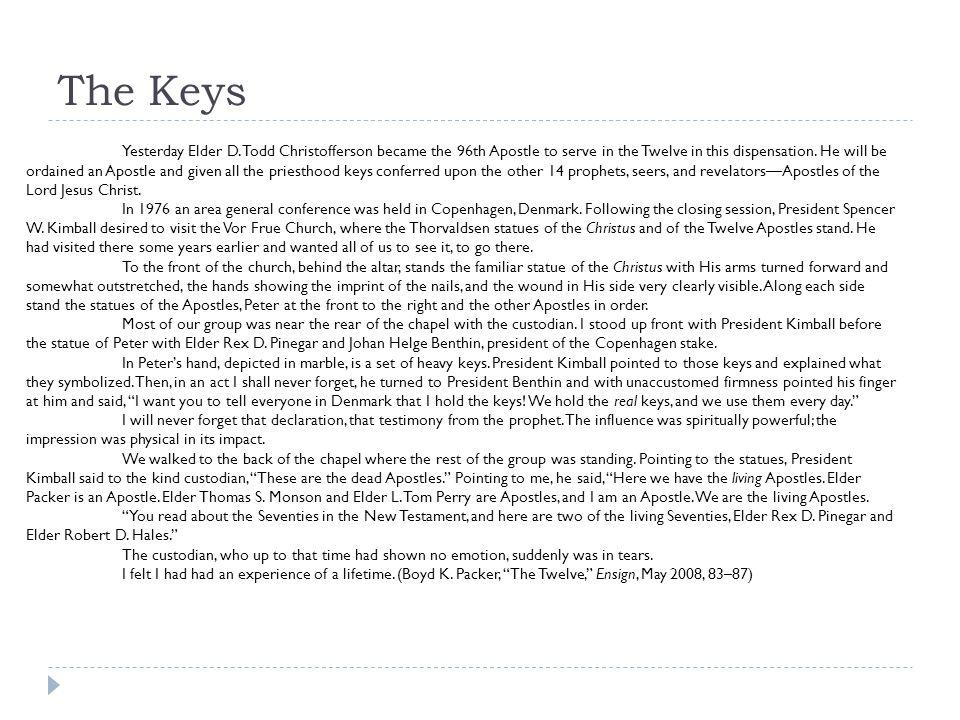 The Keys Yesterday Elder D.