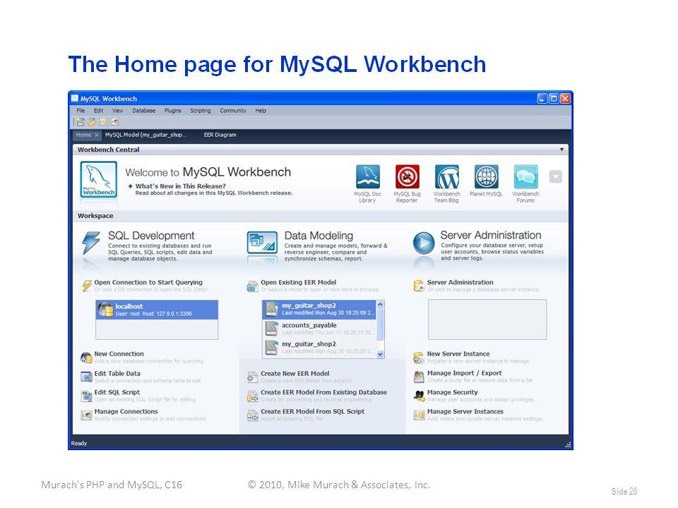 Murach s PHP and MySQL, C16© 2010, Mike Murach & Associates, Inc. Slide 28