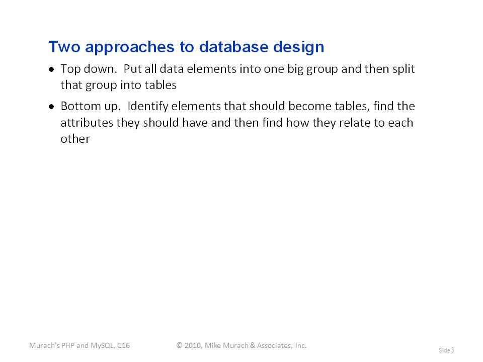 Murach s PHP and MySQL, C16© 2010, Mike Murach & Associates, Inc. Slide 3