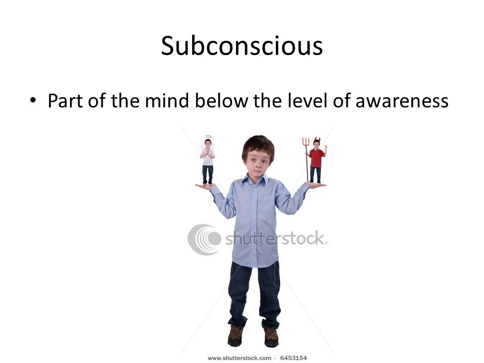 Subconscious Part of the mind below the level of awareness