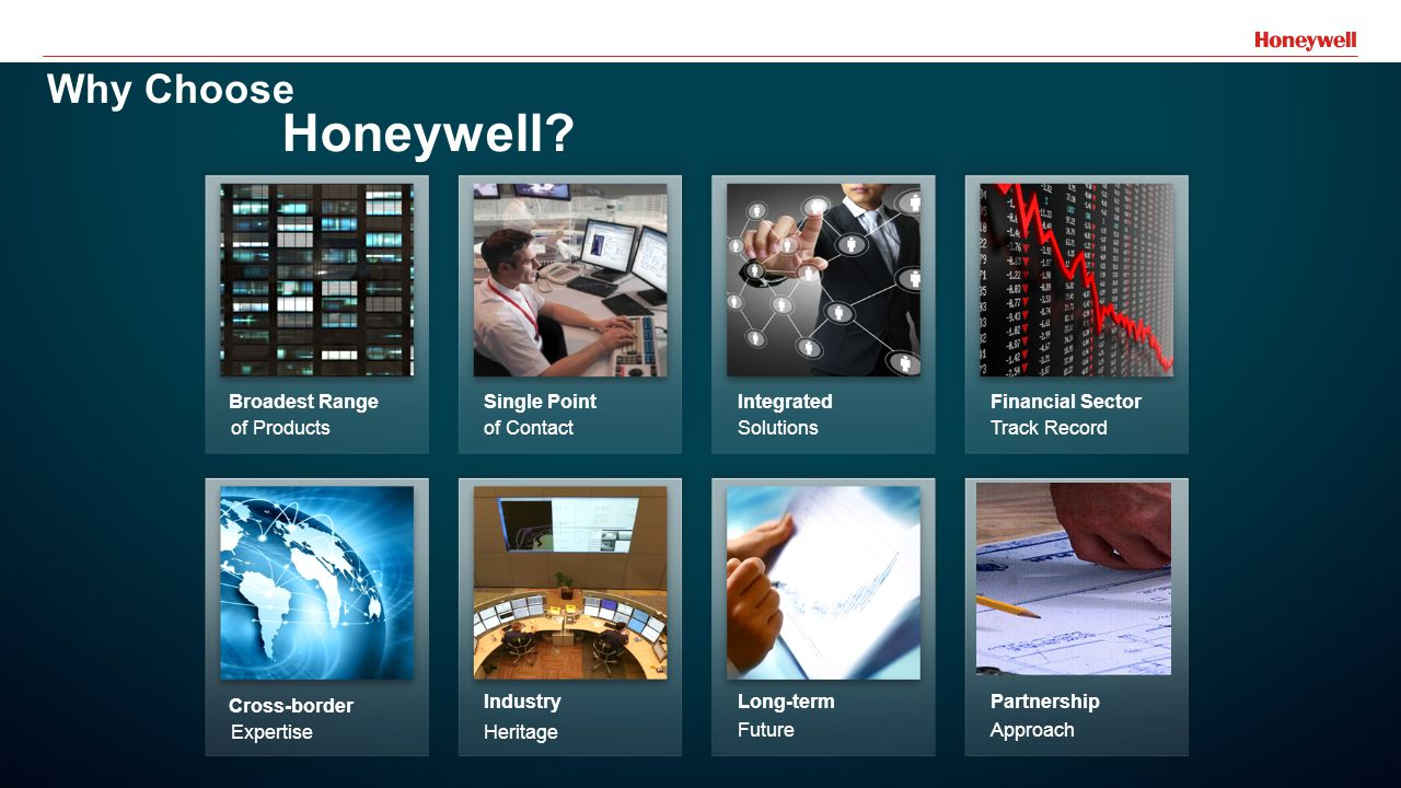 29 Broadest Range of Products Single Point of Contact Integrated Solutions Financial Sector Track Record Cross-border Expertise Industry Heritage Long-term Future Partnership Approach Why Choose Honeywell