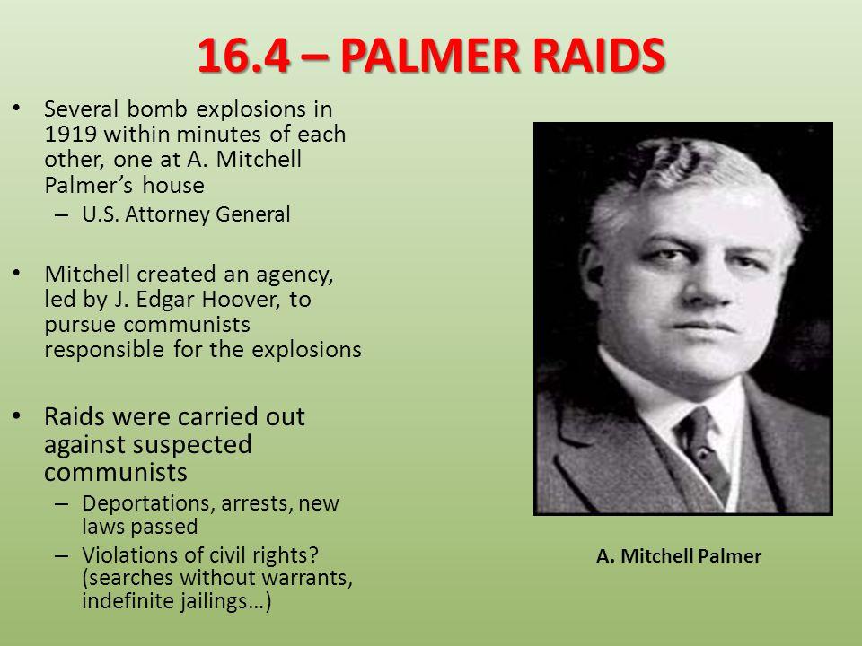 16.4 – ELECTION OF 1920 DEMOCRATS P – James M.
